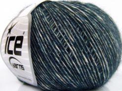 Lot of 8 Skeins Ice Yarns BABY ALPACA MERINO COTTON (22% Baby Alpaca 22% Extrafine Merino Wool) Yarn Dark Teal
