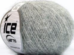 Lot of 10 Skeins Ice Yarns ALPACA SUPERFINE WOOL COMFORT (28% Alpaca Superfine 31% Wool) Yarn Light Grey