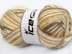 Lot of 4 x 100gr Skeins Ice Yarns FAVORITE BABY Yarn Brown Shades White