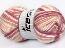 Lot of 4 x 100gr Skeins Ice Yarns FAVORITE BABY Yarn Orchid Pink White Light Salmon
