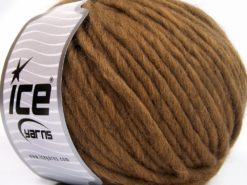 Lot of 4 x 100gr Skeins Ice Yarns PURE WOOL SUPERBULKY (100% Australian Wool) Yarn Brown