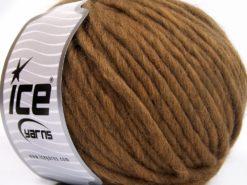 Lot of 4 x 100gr Skeins Ice Yarns PURE WOOL SUPERBULKY (100% Australian Wool) Yarn Brown