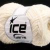 Lot of 8 Skeins Ice Yarns MUSTANG COTTON (74% Cotton) Hand Knitting Yarn Cream