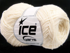 Lot of 8 Skeins Ice Yarns MUSTANG COTTON (74% Cotton) Hand Knitting Yarn Cream