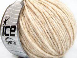 Lot of 8 Skeins Ice Yarns ETNO ALPACA (25% Alpaca 50% Merino Wool) Yarn Light Beige