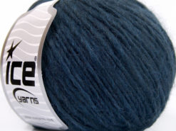 Lot of 8 Skeins Ice Yarns ETNO ALPACA (25% Alpaca 50% Merino Wool) Yarn Navy