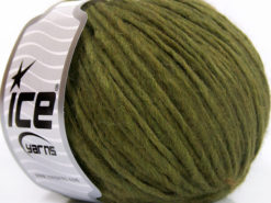 Lot of 8 Skeins Ice Yarns ETNO ALPACA (25% Alpaca 50% Merino Wool) Yarn Green