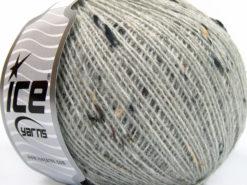 Lot of 8 Skeins Ice Yarns POP WOOL TWEED (50% Wool 10% Viscose) Yarn Light Grey