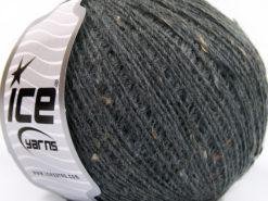 Lot of 8 Skeins Ice Yarns POP WOOL TWEED (50% Wool 10% Viscose) Yarn Dark Grey