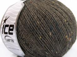 Lot of 8 Skeins Ice Yarns POP WOOL TWEED (50% Wool 10% Viscose) Yarn Brown