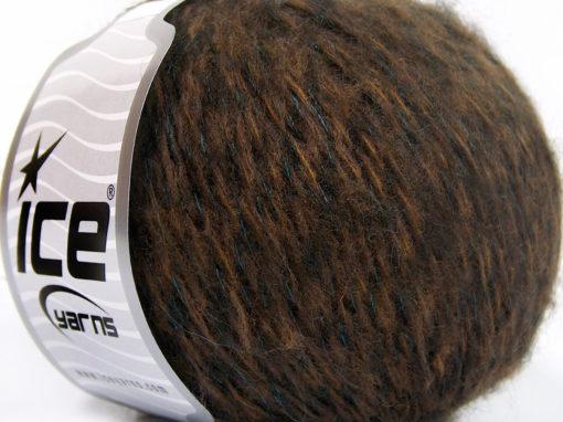 Lot of 8 Skeins Ice Yarns ANDALUSIA (30% Wool) Hand Knitting Yarn Brown Shades