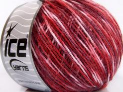 Lot of 8 Skeins Ice Yarns RONDO WOOL (40% Wool) Yarn Red Maroon Pink