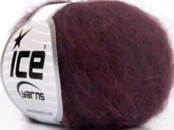 Lot of 10 Skeins Ice Yarns KID MOHAIR FINE (30% Kid Mohair) Yarn Maroon