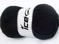 Lot of 4 x 100gr Skeins Ice Yarns FAVOURITE WOOL (50% Wool) Yarn Black