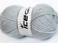 Lot of 4 x 100gr Skeins Ice Yarns FAVOURITE WOOL (50% Wool) Yarn Light Grey
