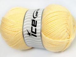 Lot of 4 x 100gr Skeins Ice Yarns FAVOURITE WOOL (50% Wool) Yarn Light Yellow