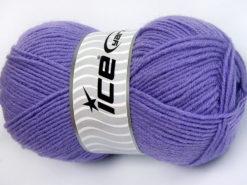 Lot of 4 x 100gr Skeins Ice Yarns FAVOURITE WOOL (50% Wool) Yarn Lilac