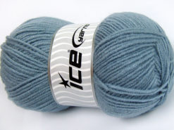 Lot of 4 x 100gr Skeins Ice Yarns FAVOURITE WOOL (50% Wool) Yarn Indigo Blue