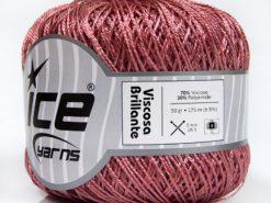 Lot of 6 Skeins Ice Yarns VISCOSA BRILLANTE (70% Viscose) Yarn Light Pink