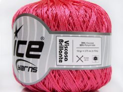 Lot of 6 Skeins Ice Yarns VISCOSA BRILLANTE (70% Viscose) Yarn Pink