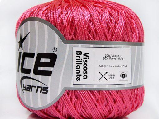 Lot of 6 Skeins Ice Yarns VISCOSA BRILLANTE (70% Viscose) Yarn Pink