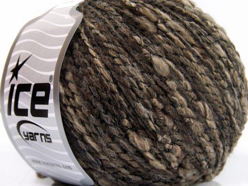 Lot of 8 Skeins Ice Yarns COMO LANA (45% Wool) Hand Knitting Yarn Brown Shades