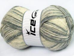 Lot of 4 x 100gr Skeins Ice Yarns JEANS WOOL (50% Wool) Yarn Grey Shades Beige