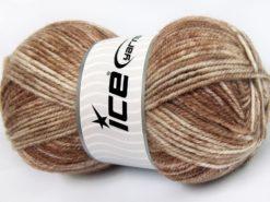 Lot of 4 x 100gr Skeins Ice Yarns JEANS WOOL (50% Wool) Yarn Camel Beige Cream