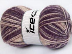 Lot of 4 x 100gr Skeins Ice Yarns JEANS WOOL (50% Wool) Yarn Purple Shades Powder Pink