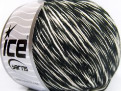 Lot of 8 Skeins Ice Yarns ZUCCHERO COTONE (55% Cotton) Yarn Black White
