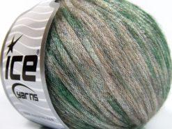 Lot of 8 Skeins Ice Yarns ROCK STAR COLOR (19% Merino Wool) Yarn Green Beige