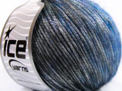Lot of 8 Skeins Ice Yarns ROCK STAR COLOR (19% Merino Wool) Yarn Blue Black