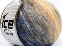 Lot of 8 Skeins Ice Yarns ROCK STAR COLOR (19% Merino Wool) Yarn Navy Purple Light Yellow