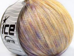 Lot of 8 Skeins Ice Yarns ROCK STAR COLOR (19% Merino Wool) Yarn Lilac Light Yellow