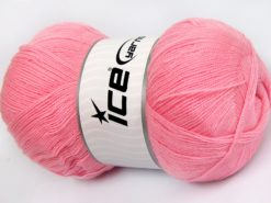Lot of 4 x 100gr Skeins Ice Yarns KRISTAL Hand Knitting Yarn Light Pink