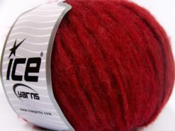 Lot of 8 Skeins Ice Yarns SOFTAIR TWEED (4% Viscose) Hand Knitting Yarn Red