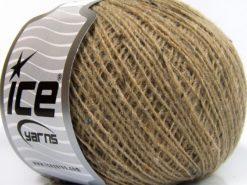 Lot of 8 Skeins Ice Yarns POP WOOL TWEED (50% Wool 10% Viscose) Yarn Dark Camel