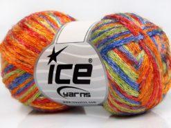 Lot of 8 Skeins Ice Yarns ALPHA CENTAURI (13% Mohair) Yarn Lavender Orange Red Green