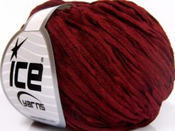 Lot of 8 Skeins Ice Yarns CHENILLE LIGHT (100% MicroFiber) Yarn Burgundy