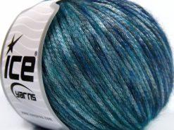 Lot of 8 Skeins Ice Yarns ROCK STAR COLOR (19% Merino Wool) Yarn Blue Shades