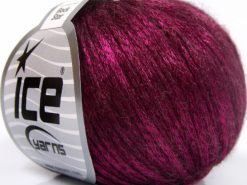 Lot of 8 Skeins Ice Yarns ROCK STAR (19% Merino Wool) Yarn Fuchsia