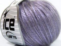 Lot of 8 Skeins Ice Yarns ROCK STAR (19% Merino Wool) Hand Knitting Yarn Lilac