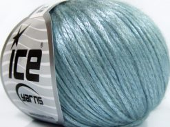 Lot of 8 Skeins Ice Yarns ROCK STAR (19% Merino Wool) Yarn Light Blue
