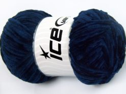 Lot of 4 x 100gr Skeins Ice Yarns CHENILLE LIGHT 100 (100% MicroFiber) Yarn Blue