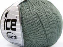 Lot of 8 Skeins Ice Yarns BABY MERINO SOFT (40% Merino Wool) Yarn Grey