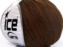 Lot of 8 Skeins Ice Yarns BABY MERINO SOFT (40% Merino Wool) Yarn Brown