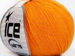 Lot of 8 Skeins Ice Yarns BABY MERINO SOFT (40% Merino Wool) Yarn Gold