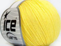 Lot of 8 Skeins Ice Yarns BABY MERINO SOFT (40% Merino Wool) Yarn Light Yellow