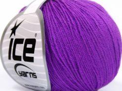 Lot of 8 Skeins Ice Yarns BABY MERINO SOFT (40% Merino Wool) Yarn Purple