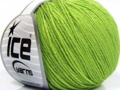 Lot of 8 Skeins Ice Yarns BABY MERINO SOFT (40% Merino Wool) Yarn Light Green
